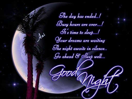 good night messages for facebook friends