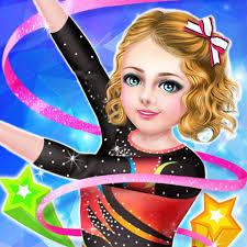 stars gymnastics academy sports team 2016 spa makeup dressup game app logo