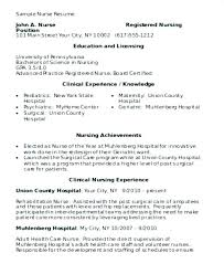 Nursing Student Resume Template – Directory Resume Sample