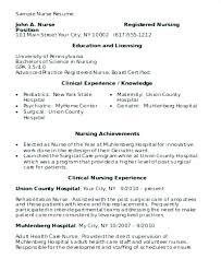 Nursing Student Resume Template – Directory Resume Sample