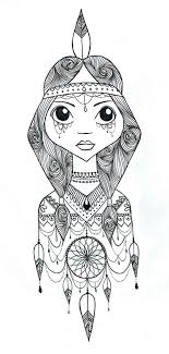 Small Picture Dreamcatcher Coloring Page GetColoringPagescom