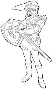 Zelda Coloring Pages Link With Sword Coloringstar