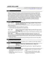 Example Resume Templates Musiccityspiritsandcocktail Com