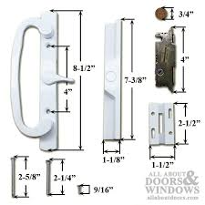 pella patio door handle kit thermastar vinyl sliding door white