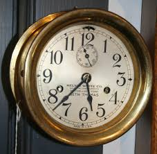416 seth thomas ship s bell clock 30 hour time and strike