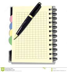 appointment book with pen