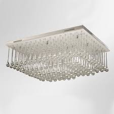 stunning clear crystal rain square stainless steel canopy 23 6