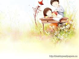 cute cartoon couple wallpaper love