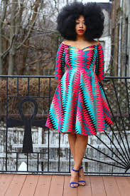African Pattern Dress Unique Zariah African Print Dress All Things Ankara Marketplace