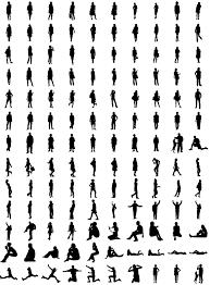 人物のシルエット素材集人間のイラストのフリーダウンロード素材