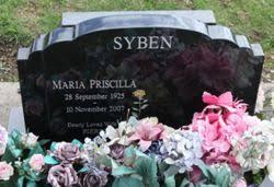 Maria Priscilla Keenan Syben (1925-2007) - Find A Grave Memorial