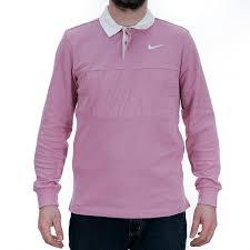 nike sb dry blend rugby shirt elemnetal pink white