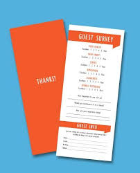 Restaurant Survey Cards Customer Comment Cards It Is Crucial You Understand What Your
