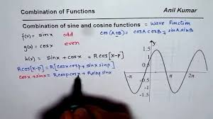 combination of sine and cosine functions understand wave equation