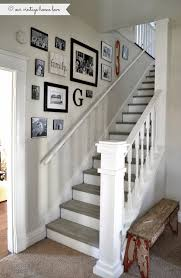 Stairway renovation ~ cut out wall and add spindles rail, paint steps with  chalk paint. My house does not have stairs but nice for hallway where  bedroom's ...