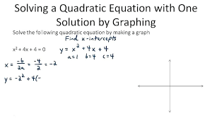 quadratic equations with one solution math use graphs and technology to solve quadratic equations algebra