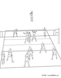 Volleyball Color Pages Volleyball Court Coloring Page More Sports Coloring Pages On