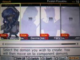 Shin Megami Tensei Iv Apocalypse Fusion Chart Special Fusions Shin Megami Tensei Iv