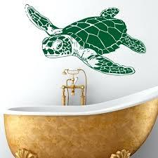 art design home decoration vinyl sea turtle wall sticker removable house decor animal tortoise decals