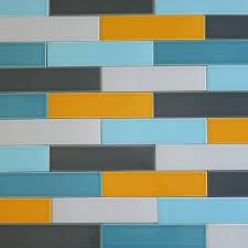 ... Plain Decoration Subway Tiles Colors Plush Orange Zest Ceramic 2x8 Subway  Tile ...