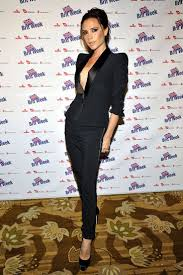 Best 20 Female celebrities ideas on Pinterest Victoria Beckham wearing a sleek black suit Women in Suits Female Celebrities in Pant