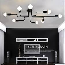 Living Room Pendant Light Interesting Online Shop Vintage Pendant Lights Multiple Rod Wrought Iron Ceiling