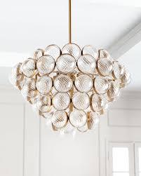 sphaira glass metal chandelier