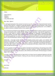 Cover Letter For Physical Education Teachers Lv Crelegant Com