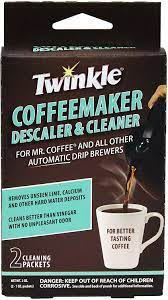 Clean your drip coffee maker this way at least once a month, more frequently with heavy use. Amazon Com Twinkle Coffeemaker Cleaner Descaler Compatible With Mr Coffee All Automatic Drip Units Pack Of 2 Coffee Machine And Espresso Machine Cleaning Products Kitchen Dining