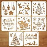 Coogam Christmas Stencil Template Reusable Plastic Stencil Drawing