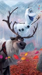Frozen 2 Olaf Sven Poster Reindeer 4K ...