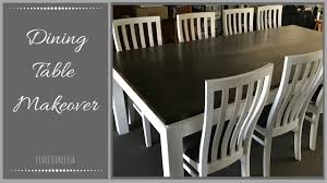Kitchen Table Makeover Dining Table Makeover Youtube