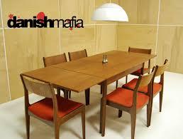mid century danish modern teak dining plete set on danish modern dining room chairs