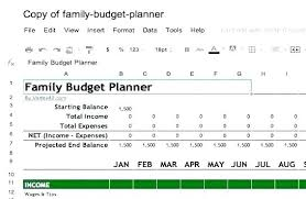 Sample Family Budget Plan Simple Family Budget Template Excel Emmaplays Co