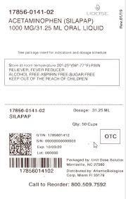 Childrens Silapap Liquid Atlantic Biologicals Corp