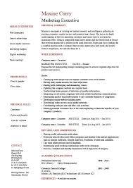 Sales And Marketing Resume Sample Best of Marketing Executive Resume Samples Sample 24AFTER Mark R Jensen
