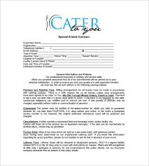 special events catering contract free download in pdf wedding catering contract sample