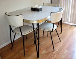 image of retro kitchen table and chairs set ideas