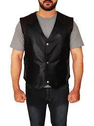 men s western style cowboy leather vest