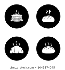 Bakery Glyph Icons Set Pancakes Stack Stock Vector Royalty Free