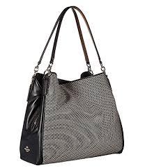 COACH Women s Exploded Reps Phoebe Shoulder Bag Milk Black One Size   Handbags  Amazon.com