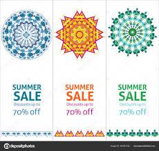 明るい夏のセール広告縦バナーします ストックベクター Mogil