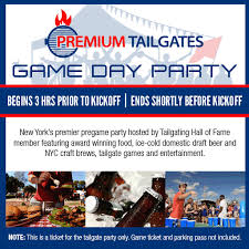New York Jets Seating Chart Premium Tailgate Game Day Party New York Jets Vs Miami