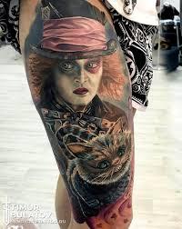 тату алиса в стране чудес от студии Syndicate Tattoo