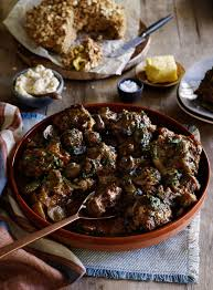 oxtail with guinness mushrooms and soda bread
