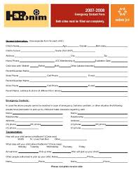 Emergency Contact Form Both Sides Must Be Filled Out Completely