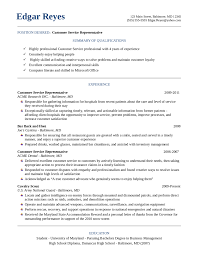 Free Resume Templates Customer Service Radiodignidadorg