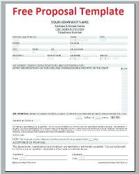 bid proposal forms contractor bid proposal forms new job bid proposal template