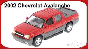 2002 Chevy Avalanche Pick Up Truck, Red - Welly 1/24 Scale - YouTube