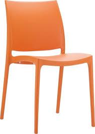 orange plastic chair. Jupiter Orange Plastic Chair Piggy Garden